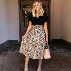 Chicwish Leopard Midi Skirt